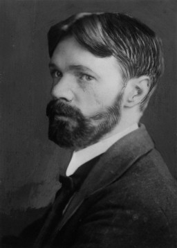 NPG x81934; D.H. Lawrence by Elliott & Fry